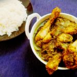 Green herb chicken curry