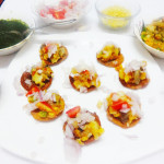 Tricolor sandwich dhoklas (Indian rice and lentils savoury cakes)