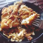 Prawn kanji curry(seafood curry in rice gruel)