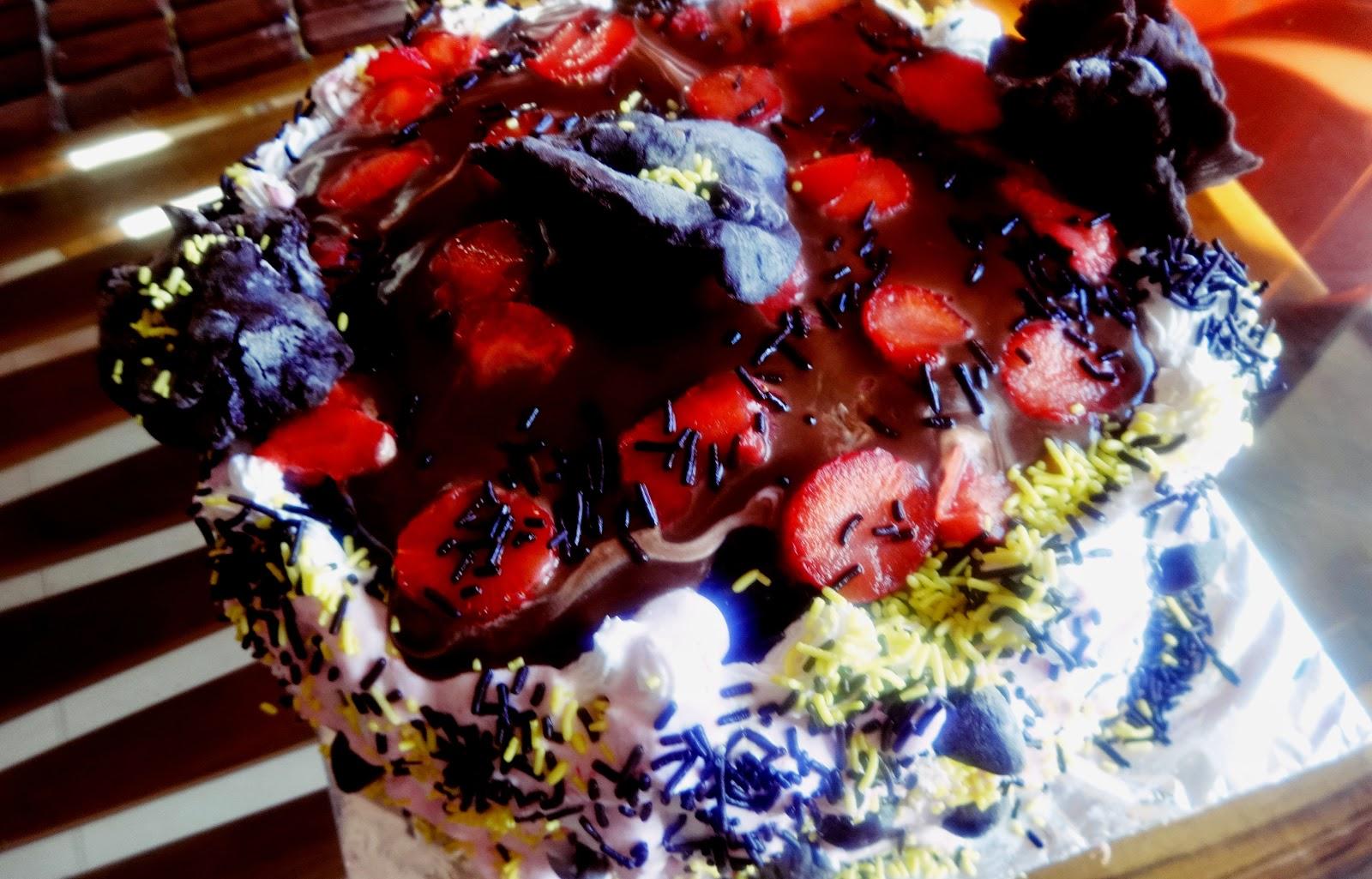 choco berry cake