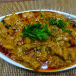 Crab curry with egg