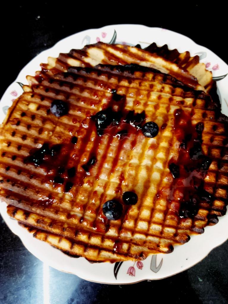 Waffle pancake