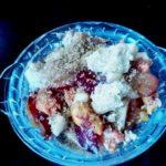 Mixed fruit crumble