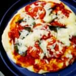 Pizza rustika (Italian Easter pizza) a vegetarian egg-less version