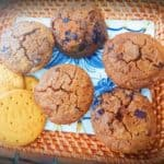 Chocolate digestive biscuits muffins
