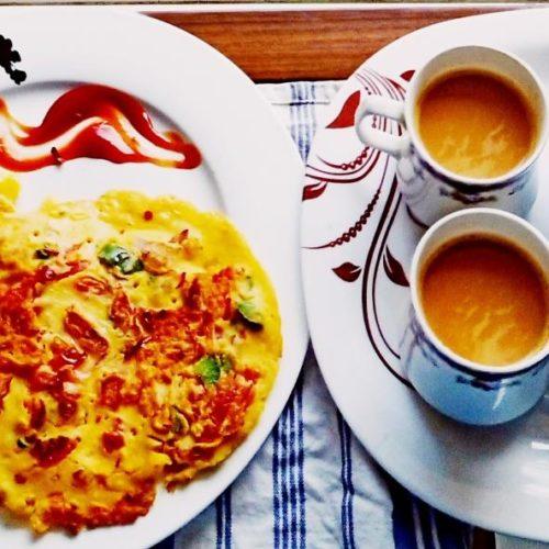 tomato omelet