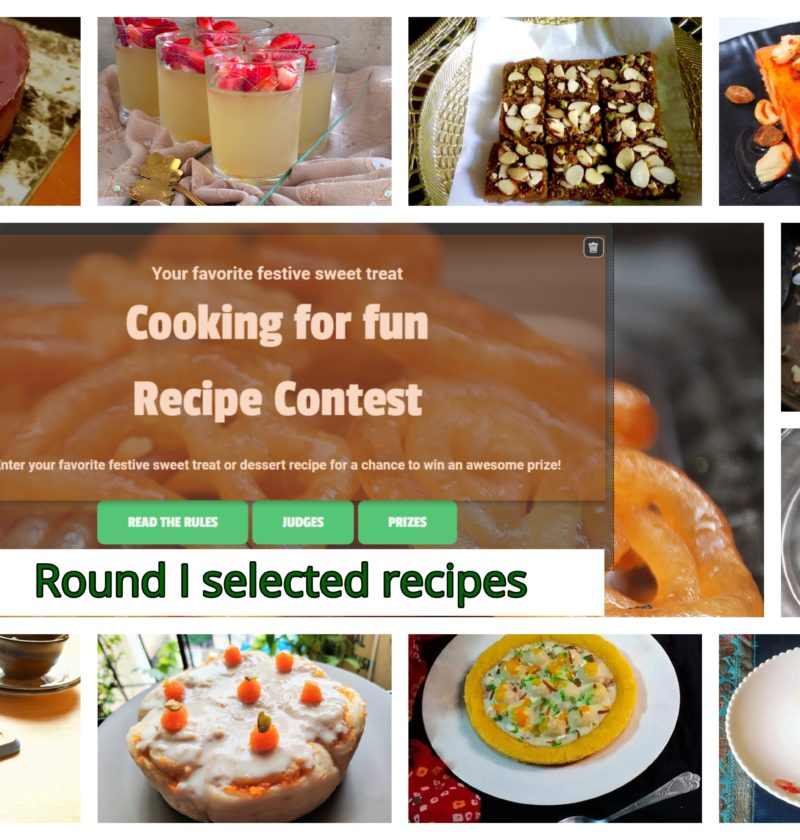 Dound 1 contest recipes