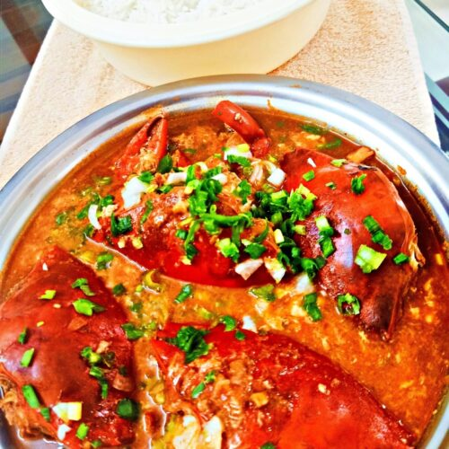 Singapore crab curry