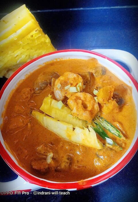 Prawn pineapple curry